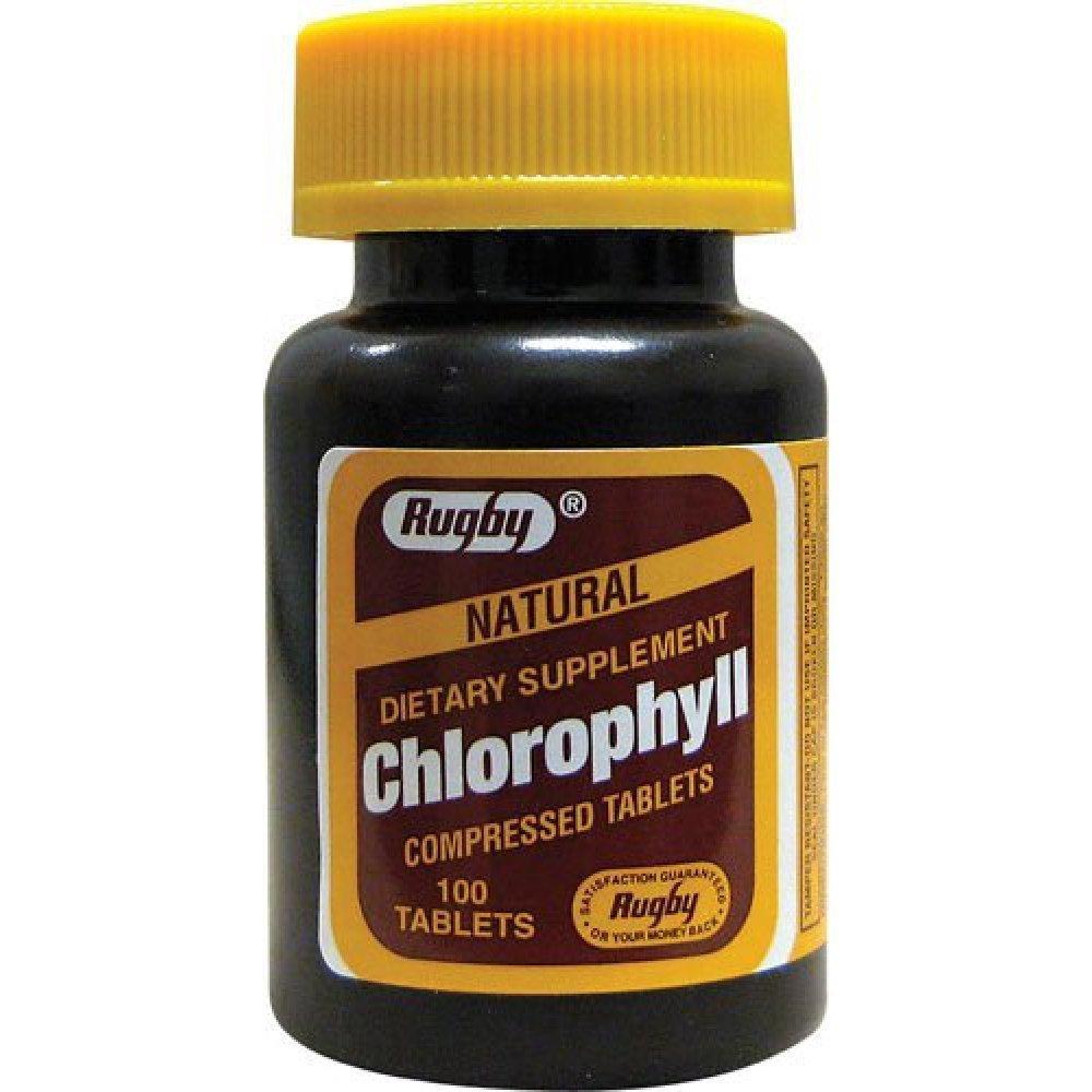Natural Chlorophyll Compressed Tablets, 100 Count per Bottle (7 Pack)