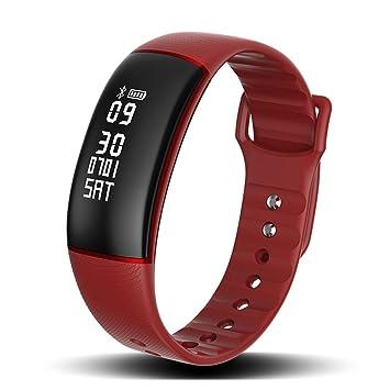 SLGJYY Smart Pulsera Tensiómetro de frecuencia Cardíaca Smart Desgaste Cámara Resistente al Agua Bluetooth Deporte Pulsera Salud Pulsera, ...