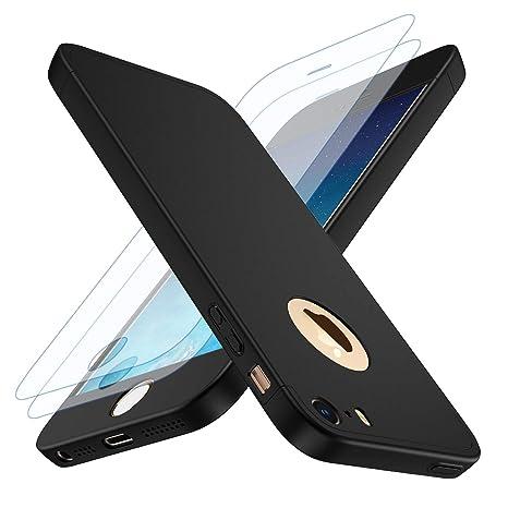 losvick coque iphone 5/5s iphone se housse 360
