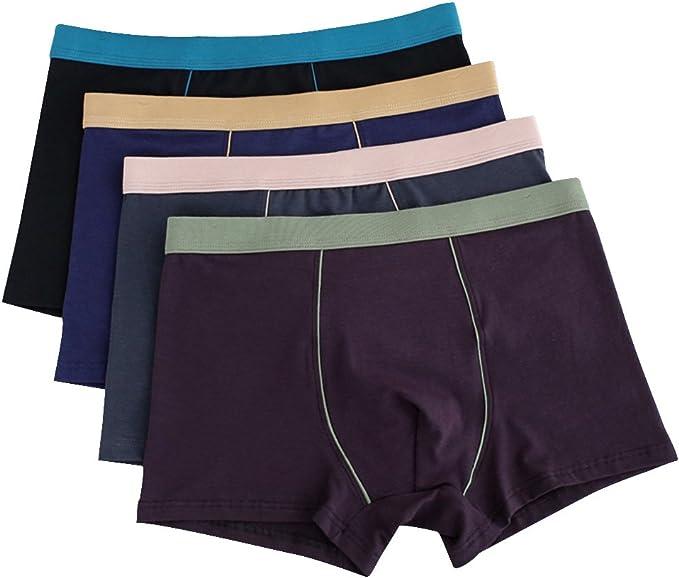 1PC Boxers Sous-vêtements Caleçon Short Hommes Coton Culotte Respirant Coton Doux