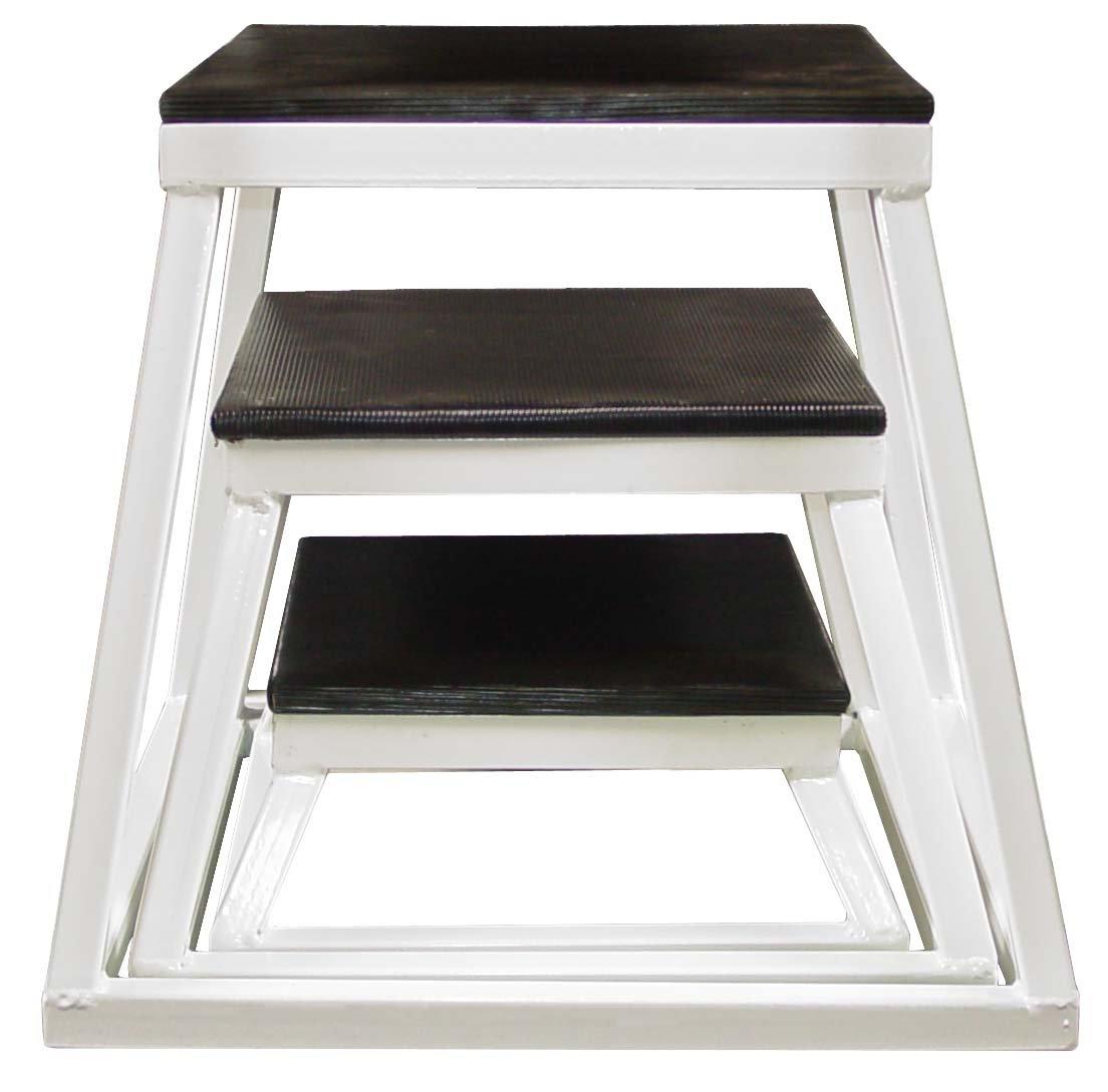 Plyometric Platform Box Set- 6'', 12'', 18'' White
