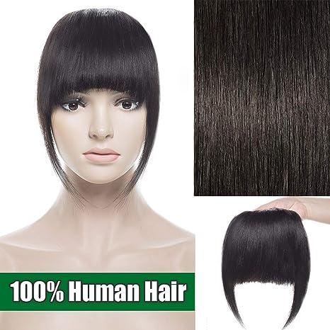 Pulseras de pelo humano con flecos, una sola pieza, extensiones de cabello 100%