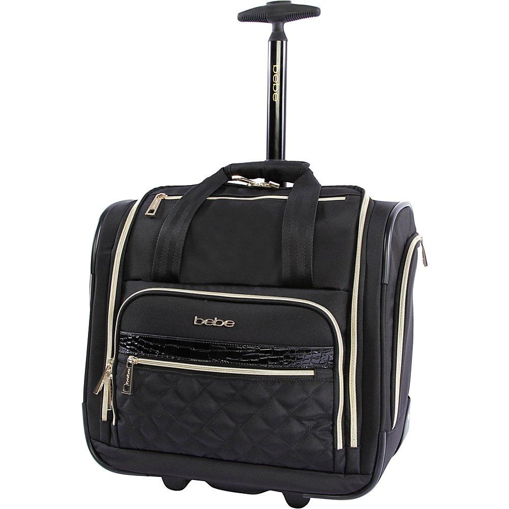 BEBE Women's Leena-Wheeled Under The Seat Carry On Bag, Black Fila Luggage -- Dropship BE-UD-4-BK