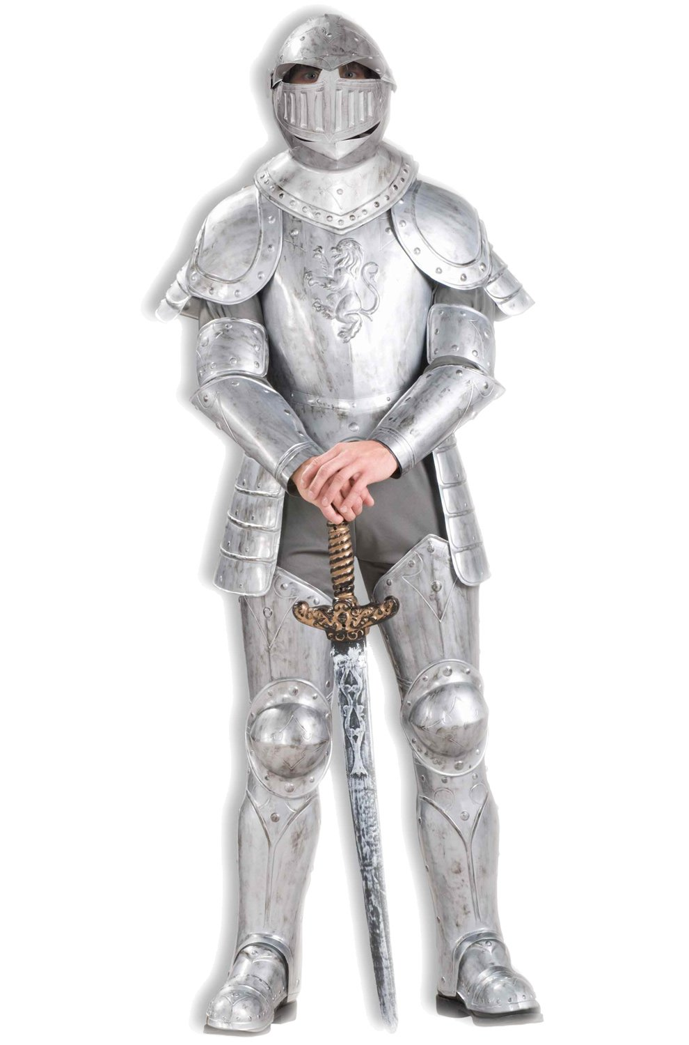 Forum Knight In Shining Armor Complete Costume, Silver, One Size