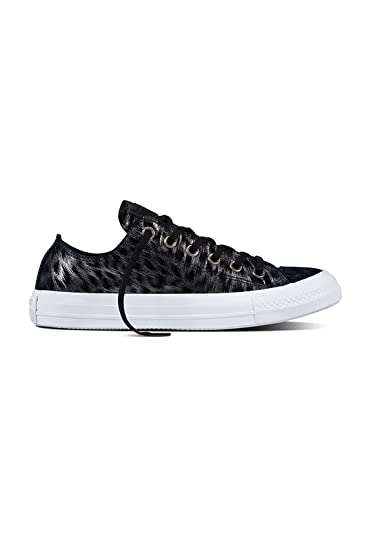 9646e7d3edfc Converse All Star Ox Trainers Black  Amazon.co.uk  Shoes   Bags