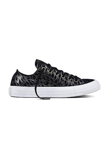 633b175bb59f Converse All Star Ox Womens Sneakers Black Size 8 M