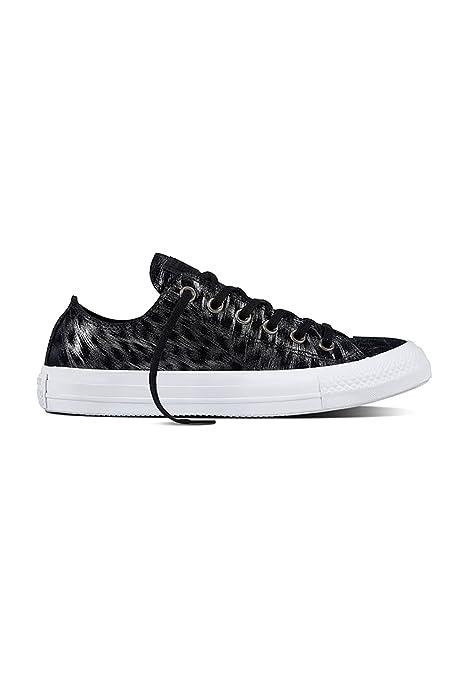 Converse All Star Ox Mujer Zapatillas Negro: Amazon.es: Zapatos y complementos