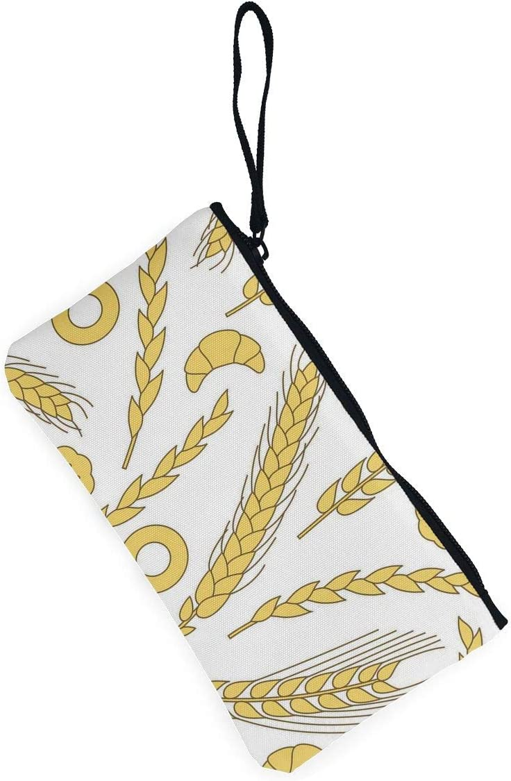 Coin Purse Yellow Wheat Ladies Zip Canvas Wallet ChangeSpecial Holder