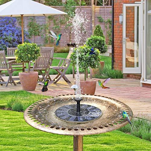 TOMONOLO Solar Fountain Pump for Bird Bath, 1.4W Free Standing Solar Powered Water Pump for Birdbath,Garden Pond Outdoor by TOMONOLO (Image #1)