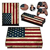 old xbox controller skin - US American Old Flag Vinyl One Xboxone X Console Skin & Two Wireless Controller Cover Decal & Four Free Stickers Set for Microsoft Xbox one X