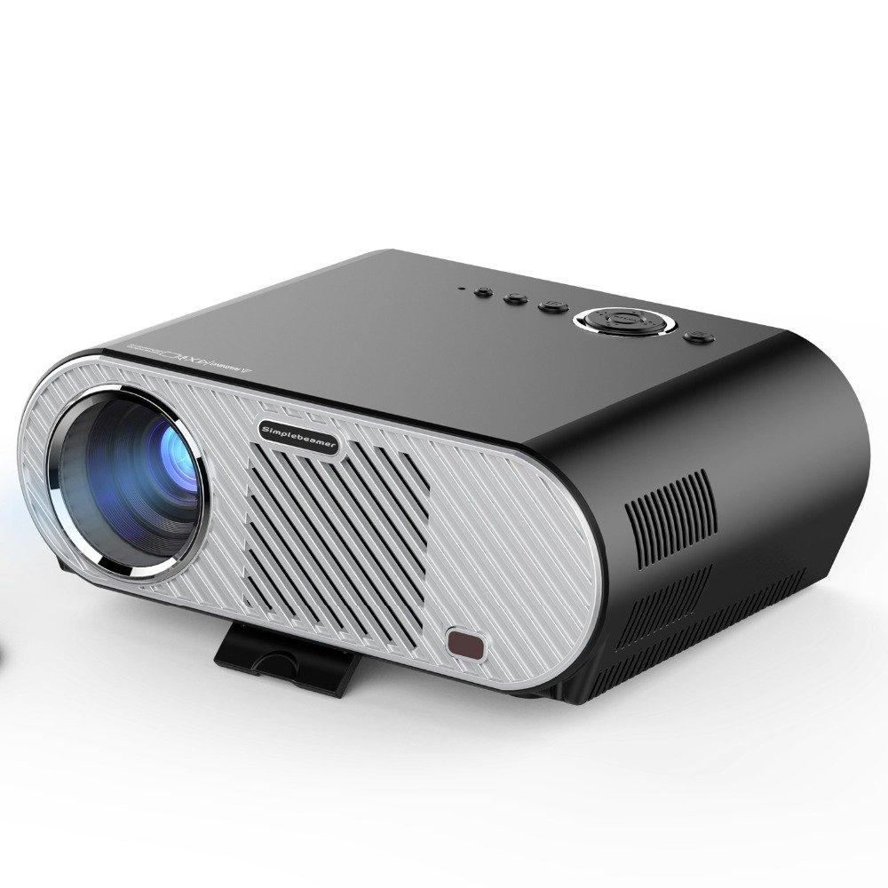 LED LCDビデオプロジェクター3200ルーメン1280 x 800フル1080P HDHomeシネマシアターHDMI / VGA / USB / AVビーマープロジェクション200インチ画像スクリーン B071ZF998Y