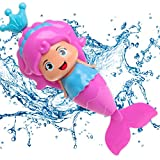Conquer Baby - Baby Bath Toy - Mermaid Wind Up Floating Water Toy for Kids and Toddlers - Swimming Pool Water Beach Bathing Time Bath Tub Fun BPA free - One Piece