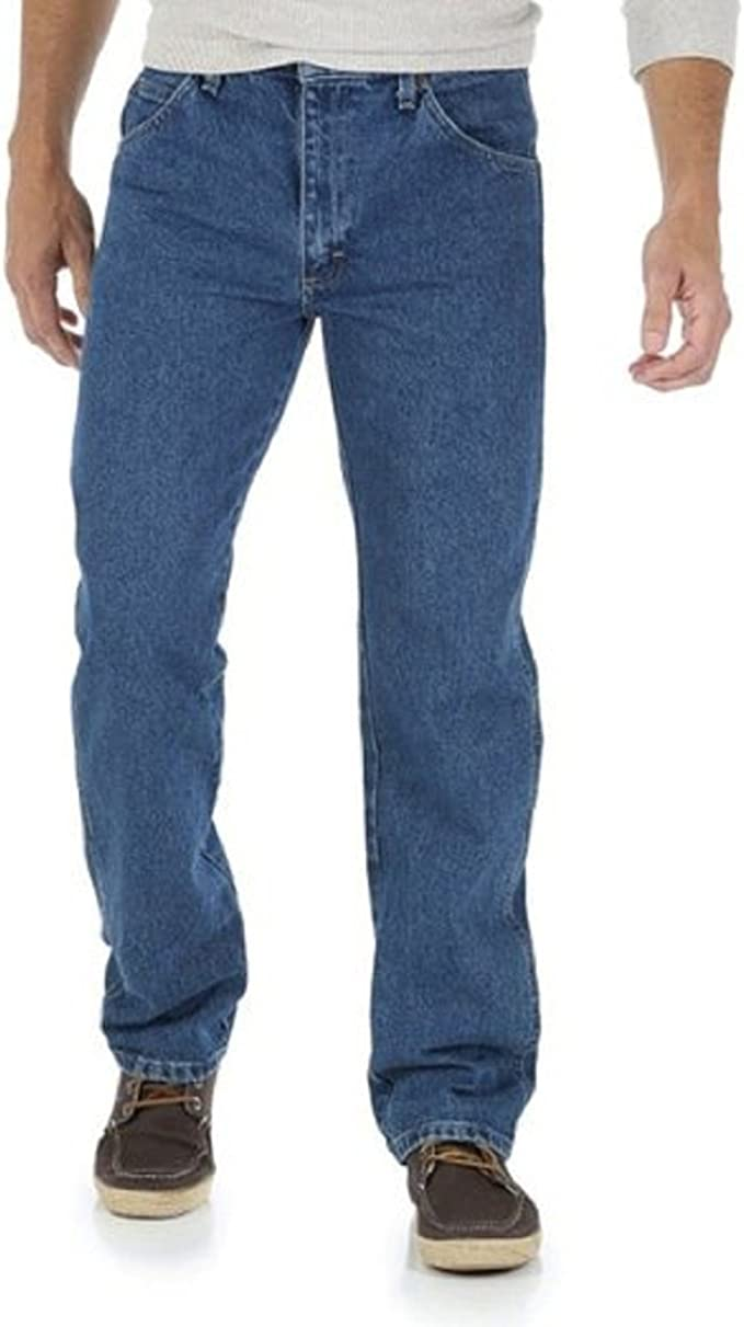 Wrangler Men's Regular fit Straight Leg Jean (33X32, Pepper Stone)
