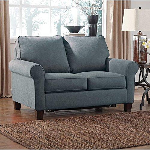 Ashley Zeth Fabric Twin Size Sleeper Sofa In Denim