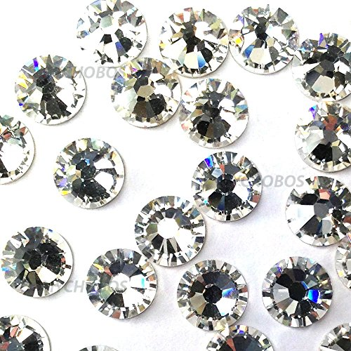 - CRYSTAL (001) clear Swarovski 2058 Xilion Rose 6ss 2mm Tiny flatback No-Hotfix rhinestones ss6 nail art 144 pcs (1 gross)