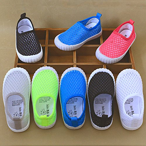 CIOR Kids Slip-On Breathable Sneakers For Running Beach Toddler/Little Kid,808white,25 4
