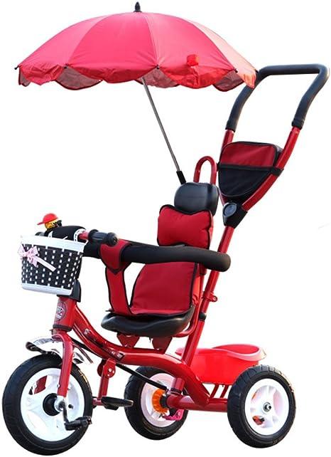 BZEI-BIKE Carritos de Triciclo para niños Carruajes de bebé Bicicletas para niños 3 Ruedas, Bicicleta roja (niño/niña, 1-3-5 años) niños Juguetes (Color : Foam Wheel): Amazon.es: Deportes y aire libre