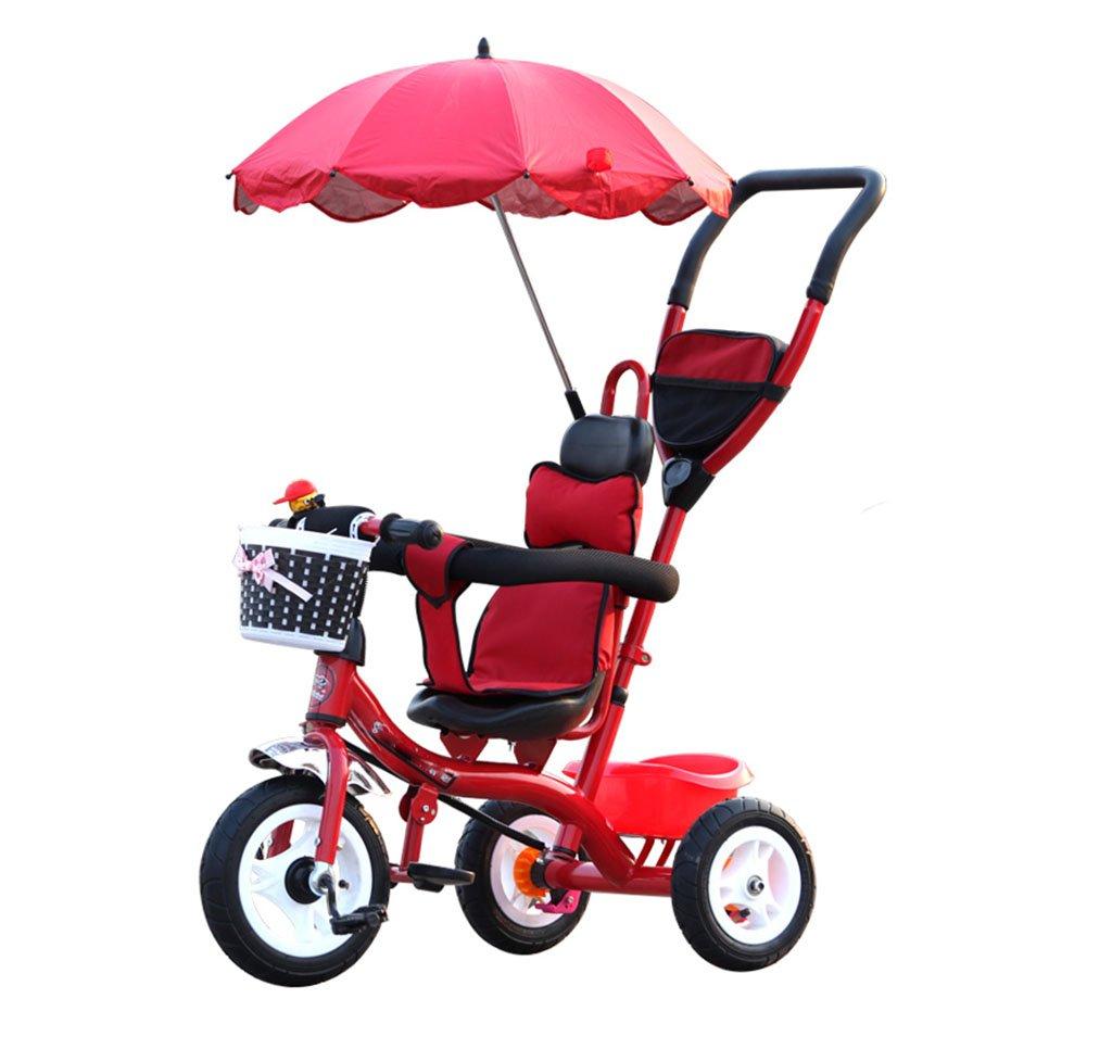 KANGR-子ども用自転車 子供用三輪車カートベビーキャリッジ子供用自転車3輪、赤い自転車(ボーイ/ガール、1-3-5歳) ( 色 : Foam wheel ) B07BTXMGCP Foam wheel Foam wheel