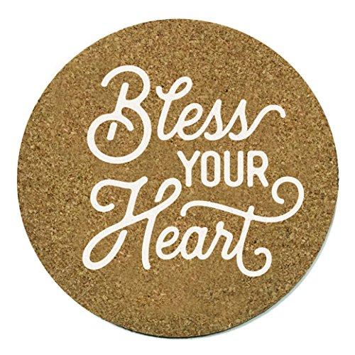 Bless Your Heart Coaster Set Cork 3.75 Inch Coasters - 2 Texas Coasters Texas ()
