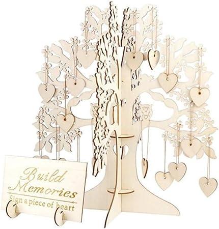 Wooden Freestanding DIY Wishing Tree Wedding Supplies Guest Sign Book