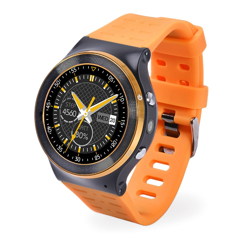 Wrisky GSM 3G Quad Core Smart Watch 5.0MP Camera GPS WiFi BT4.0 Pedometer Heart Rate