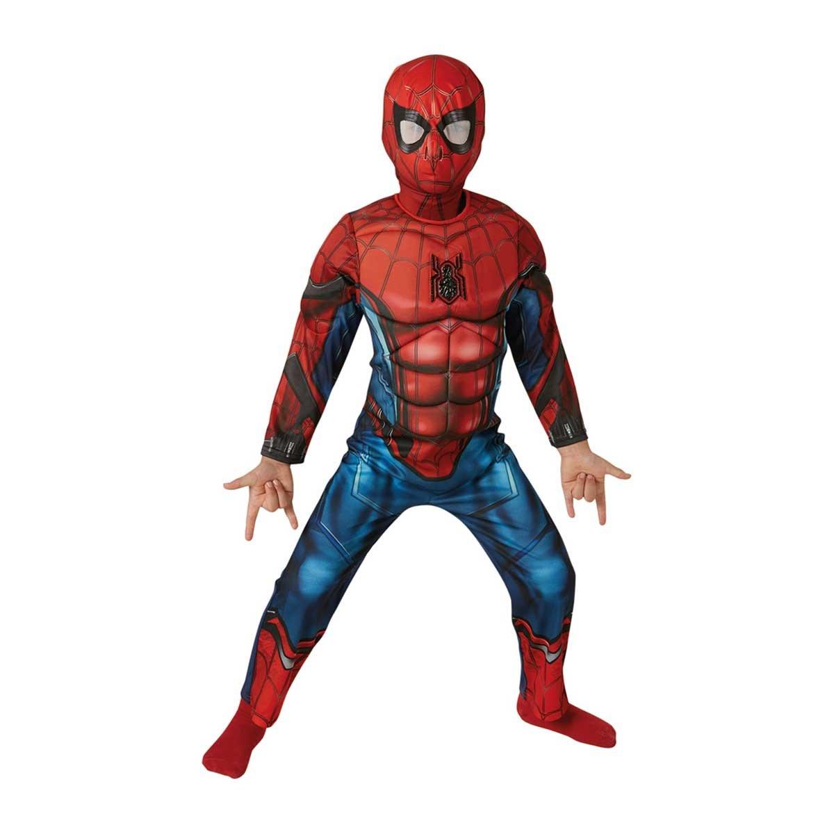 Marvel - Disfraz de Spiderman Deluxe para niños, 5-7 años (Rubies 630845-M): Amazon.es: Juguetes y juegos