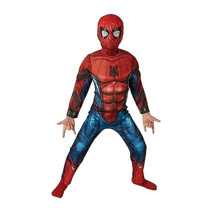 Marvel - Disfraz de Spiderman Deluxe para niños, 8-10 años (Rubies 630845-L)