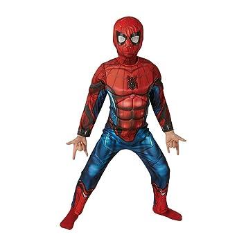 Marvel - Disfraz de Spiderman Deluxe para niños 61d353e843d