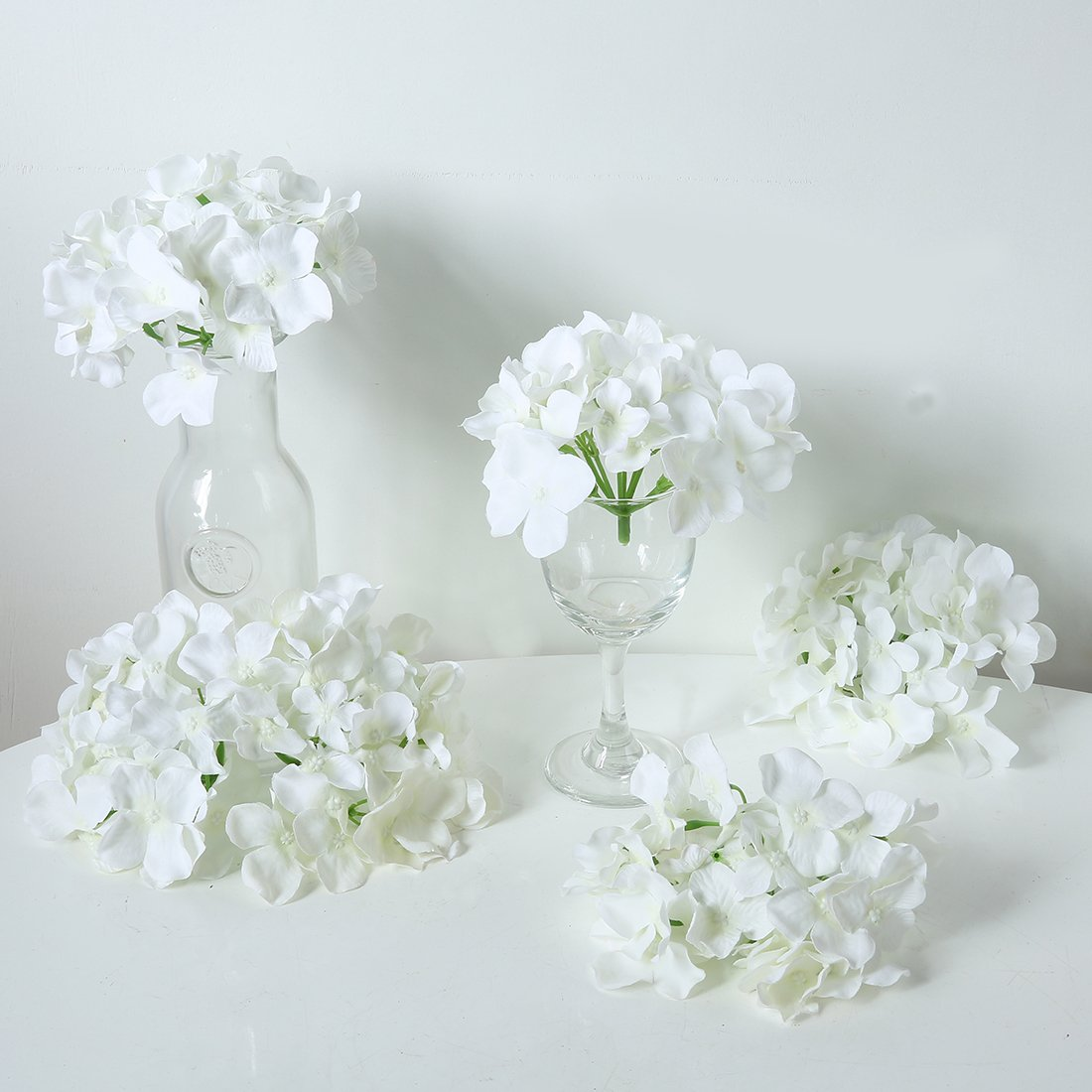 Amazon.com: Veryhome Blooming Silk Hydrangea Flower Heads for DIY ...