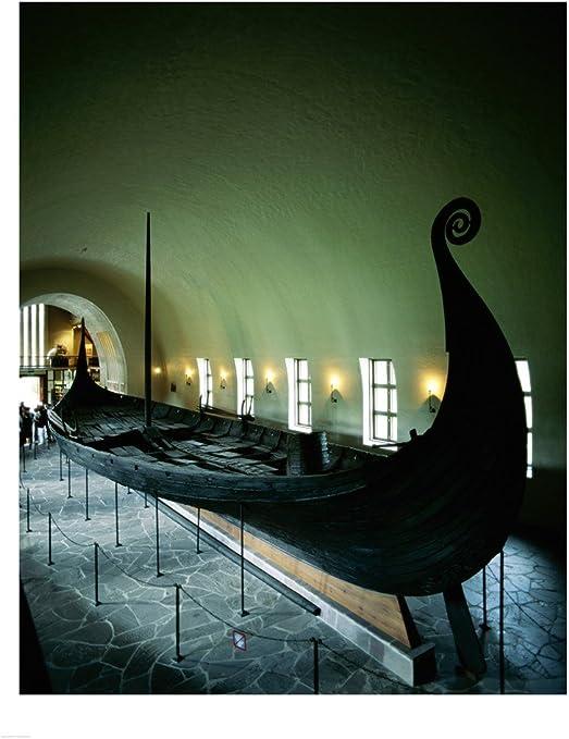 Viking Ship In Oslo Art Print Home Decor Wall Art Poster