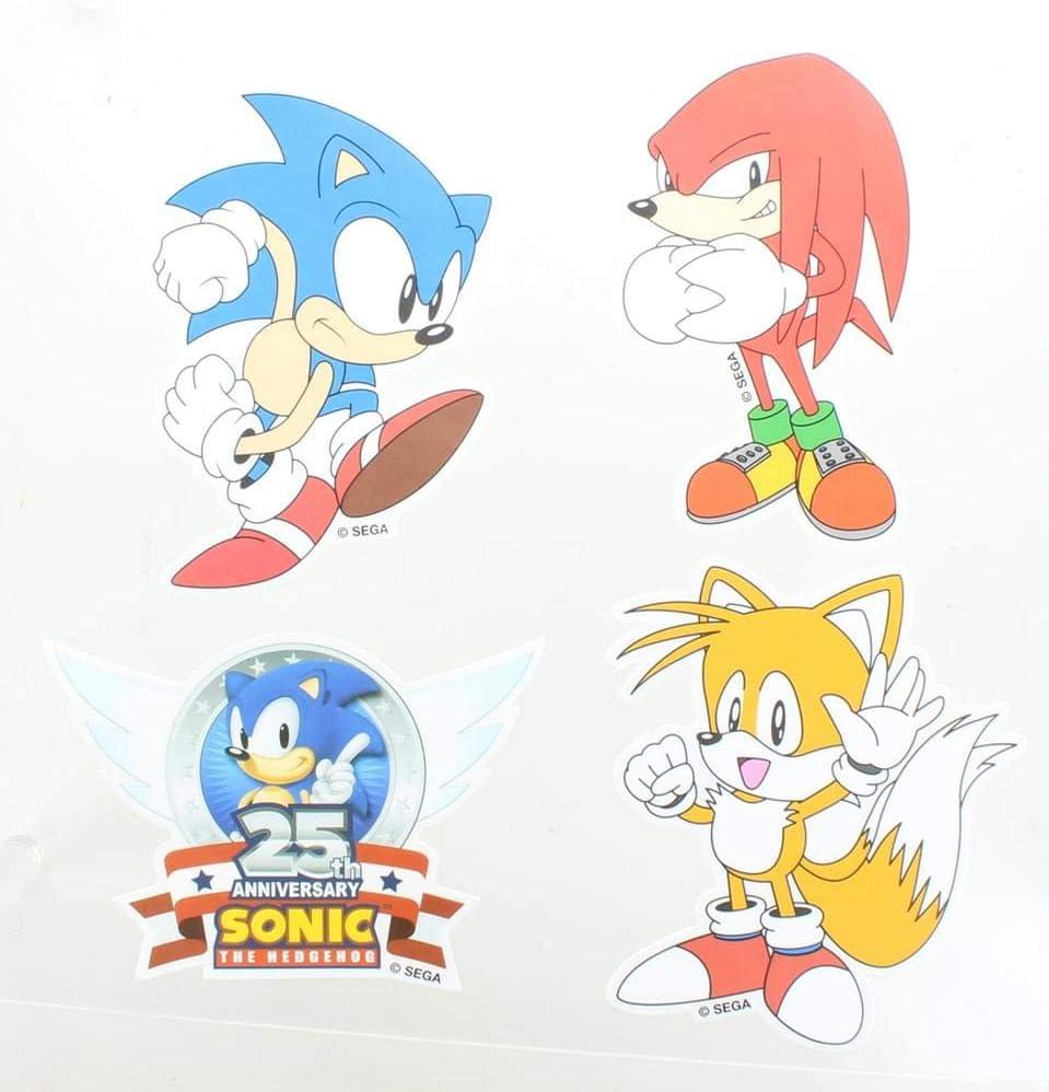 Amazon Com Sonic The Hedgehog Vinyl Stickers Set Of 4 Toys Games