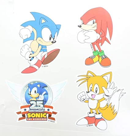 6160616eaac82 Amazon.com: Sonic the Hedgehog Vinyl Stickers, Set of 4: Toys & Games