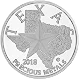 #2: 2018 - Texas Silver Round 1 OZ Brilliant Uncirculated