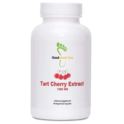 GoutandYou Tart Cherry Extract - Extracto de cereza agria - Altamente potente- 1500 mg -
