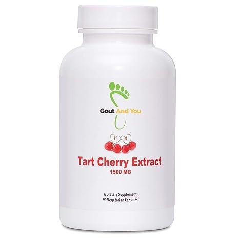 GoutandYou Tart Cherry Extract - Extracto de cereza agria – Altamente potente- 1500 mg -