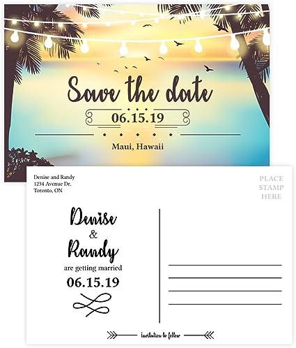 Amazon.com: Custom – Tarjeta postal de invitación para boda ...