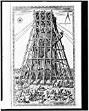 Photo: Scaffolding used for support when lowering obelisk,Circus Nero,1590,Fontana