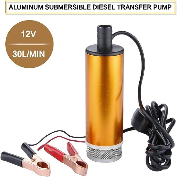 Corriente continua de aleación de aluminio 12V Bomba De Aceite De Agua Sumergible combustible diesel 30L por minuto