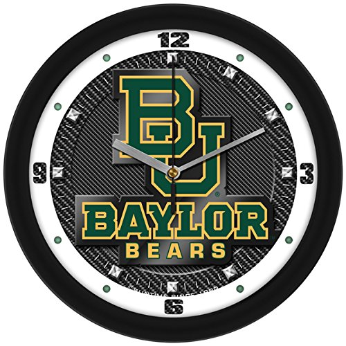 Bears Ncaa Wall Clock - SunTime NCAA Baylor Bears Textured Carbon Fiber Wall Clock