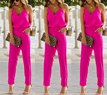 swall owuk Jumpsuit Mujer Elegante Verano Overalls Mujeres ...