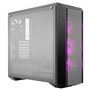 Cooler Master MasterBox Pro 5 RGB ATX Mid-Tower w/Front DarkMirror Panel, Tempered Glass Side Panel & 3X 120mm RGB Fans w/1 to 3 Splitter Cable