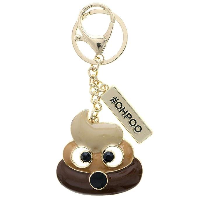 Amazon.com: Mi Amore Poop Emoji Hashtag OHPOO - Llavero con ...