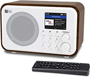 "Ocean Digital WiFi Internet Radios WR-336N Portable Digital Radio with Rechargeable Battery Bluetooth Receiver with 2.4"" Color Display, 4 Preset Buttons, Support UPnP & DLNA-White"