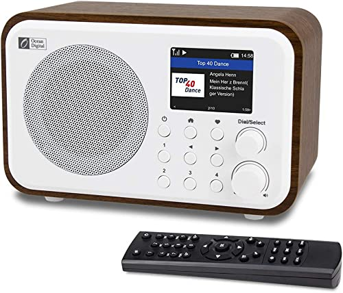 "Ocean Digital WiFi Internet Radios WR-336N Portable Digital Radio with Rechargeable Battery Bluetooth Receiver with 2.4"" Color Display, 4 Pre-set Buttons, Support UPnP & DLNA-White - Most Versatile Internet Radio"