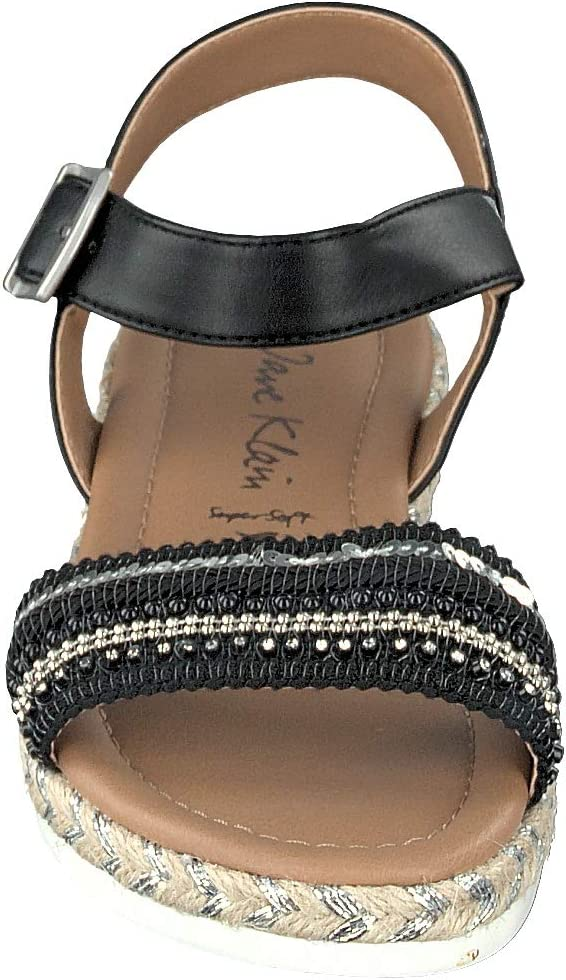 JANE KLAIN 285 411 dames sandalen met riempjes zwart (black 007)