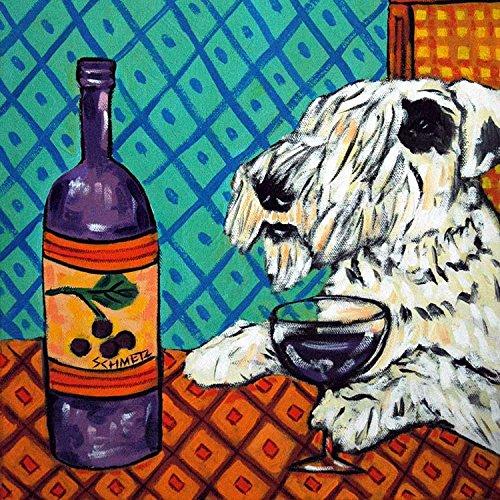 Sealyham Terrier at the Wine Bar Decor dog art tile coaster gift