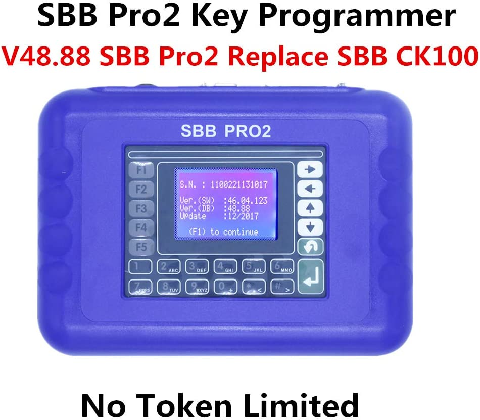 Update SBB PRO2 V48.88 Key Programmer Tool No Token Limited Support Cars to 2017
