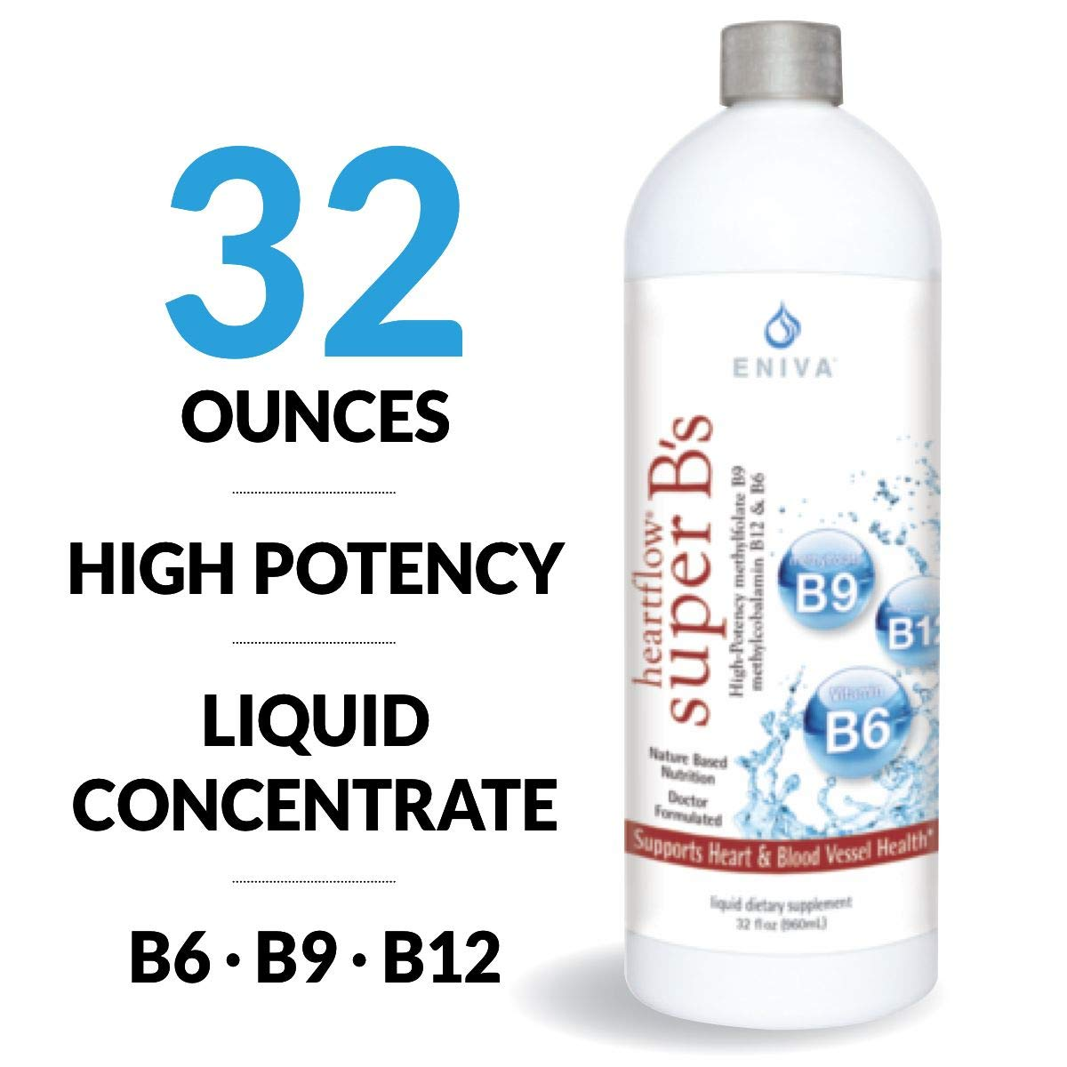 Eniva Heart Flow Super Bs Artery Blood Vessel Care Vitamin Blend Concentrate 32 oz