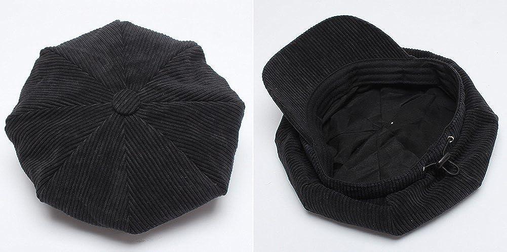 Elezay Women/'s Retro Classic Corduroy Newsboy Cap Beret Gatsby Hat
