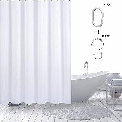 Amazon.com: Tazay Fabric Shower Curtain Liner, 72\